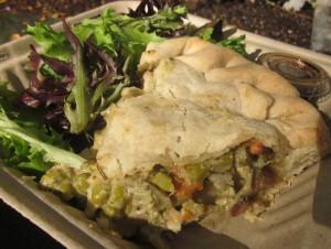 Chicken Pot Pie with Side Salad