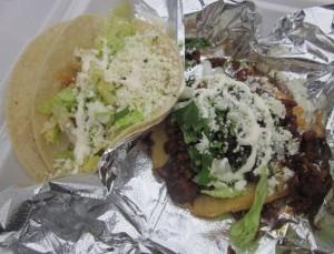 Chicken Taco & Chorizo Sope