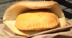 Coco Bread Stuffed with Beef Patty