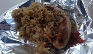 Weisswurst and sauerkraut